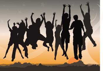 Hand up jump