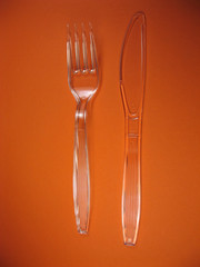 disposable plastic knife fork and spoon
