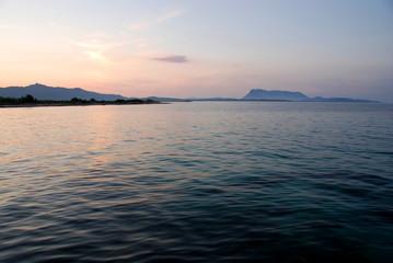 Isola di Tavolara, Sardegna, tramonto