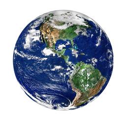 globe isolated on pure white background