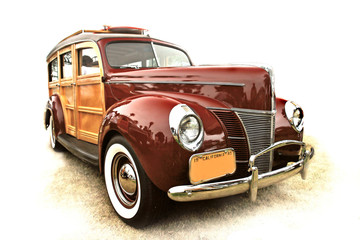 40's vintage woody station wagon