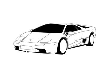 Lamborghini - Line Art