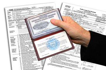 IRS agent with identification