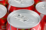 Red soda cans poster