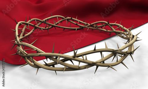 A Crown of thorns on a dark cloth