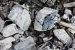 Close up of coals.
