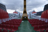 chairs on deck of ship