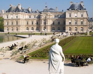 Sculpture in front of the Palais du Luxembourg, Paris, France