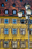 Tenement house background - city of Wroclaw poster