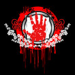 Blood Palm Hand Symbol.