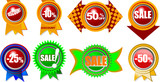 Eight Brand New Icons with Sale and Retail Information.  poster