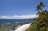 Azure Hawaiian Volcanic Beach on Kona Island poster