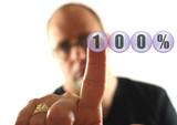 Man giving 100 % Effort. poster