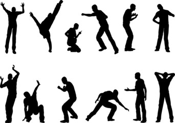 Male Action Poses in vector Format