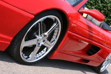 Red convertible sportscar