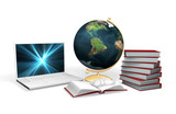 3D rendered conceptual image depicting knowledge and learning poster