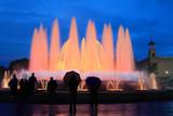Magic fountain in Barcelona, Spain poster