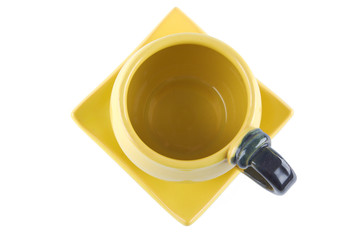 top view of cup with saucer