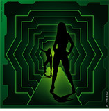 Abstract futuristic model green poster