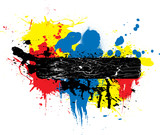 Abstract ink or paint poster