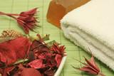 Aromatherapy - spa ingredients poster