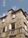 dalmatian buildings poster