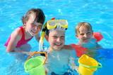 Fototapety fun in pool