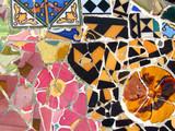 Gaudi mosaic in Barcelona poster