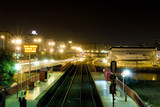 long exposure shot - railway station in Alicante, Spain poster