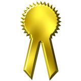 Golden Award Ribbon poster