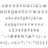 Metallic Font poster