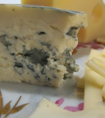 Still life with cheese with mould