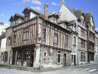 Moret sur loing-Vieilles maison médiévales