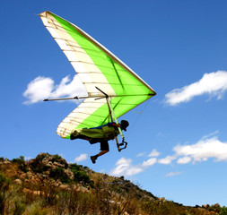 Hangglider launch