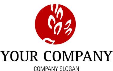 Logo mit Blättern