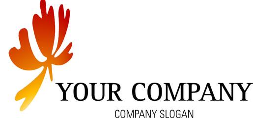 Logo mit Blatt