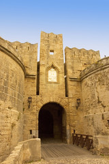 The Amboise Gate to the old town of  Rhodes Citadel , Greece
