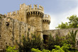 towers of Grandmaster's Palace in Rhodes Citadel, Greece