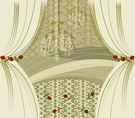 ENCORE! gold curtains