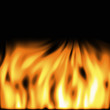 image of rendered orange flames on a black background
