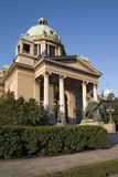 The building of the serbian Parlament in Belgrade.. poster