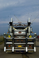 Powerful truck front view