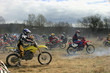 Start motorcycle races on a cross-country terrain