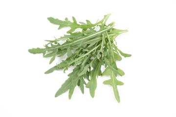 fresh lettuce - rucola - isolated on white
