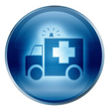 First aid icon. ( With Clipping Path ) poster