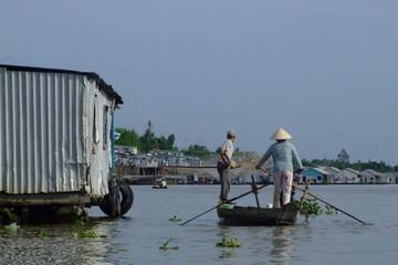 Navigation dans le delta du Mekong, Vietnam