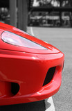Nose of red supercar poster