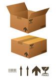 Boites en cartons poster