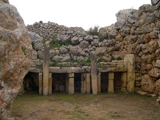 Megalithic temple in Malta