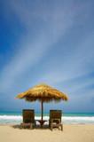 beach shelter poster